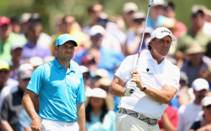 Sergio Garcia and Phil Mickelson have both been picked by one of us to miss the cut, and as a favorite by another. Only time will tell what fate has in store for these Ryder Cup competitors. Photo courtesy of cbssports.com
