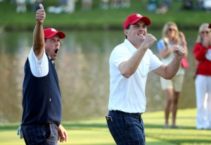 Ryder Cup Rookie Keegan Bradley and veteran Phil Mickelson were the best thing going for Team USA at Medinah. Watson will likely give them the chance to carry their momentum over to Scotland. Photo courtesy of zimbio.com.